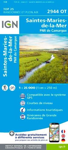 IGN Saintes-Maries-De-La-Mer / Pnr De Camargue - Carte topographique