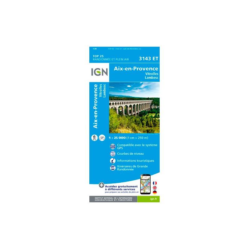 IGN Aix En Provence / Vitrolles / Lambesc - Carte topographique
