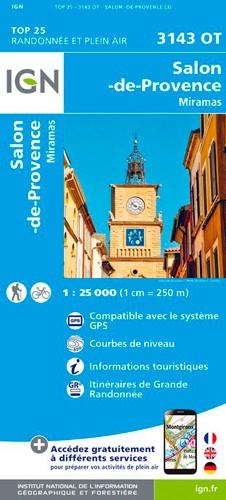 IGN Salon-De-Provence / Miramas - Carte topographique