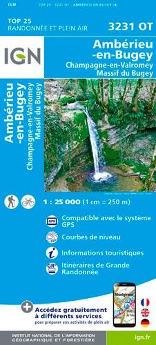 IGN Ambérieu-En-Bugey / Champagne-En-Valromey / Massif Du Bugey - Carte topographique