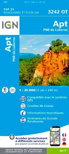 IGN Apt / Pnr Du Lubéron - Carte topographique