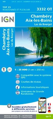 IGN Chambéry / Aix-Les-Bains / Lac Du Bourget - Carte topographique
