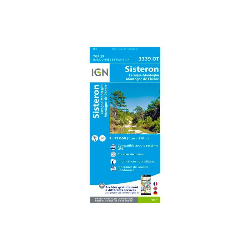 IGN Sisteron / Laragne-Montéglin / Montagne De Chabre - Carte topographique