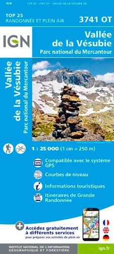 IGN Vallée De La Vésubie / Pn Du Mercantour - Carte topographique