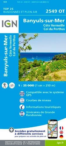 IGN Banyuls.Col Du Perthus.Côte Vermeille - Carte topographique