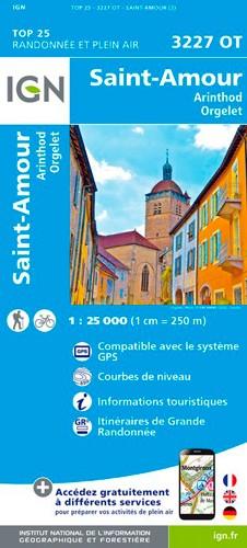 IGN Saint-Amour.Arinthold.Orgelet - Carte topographique