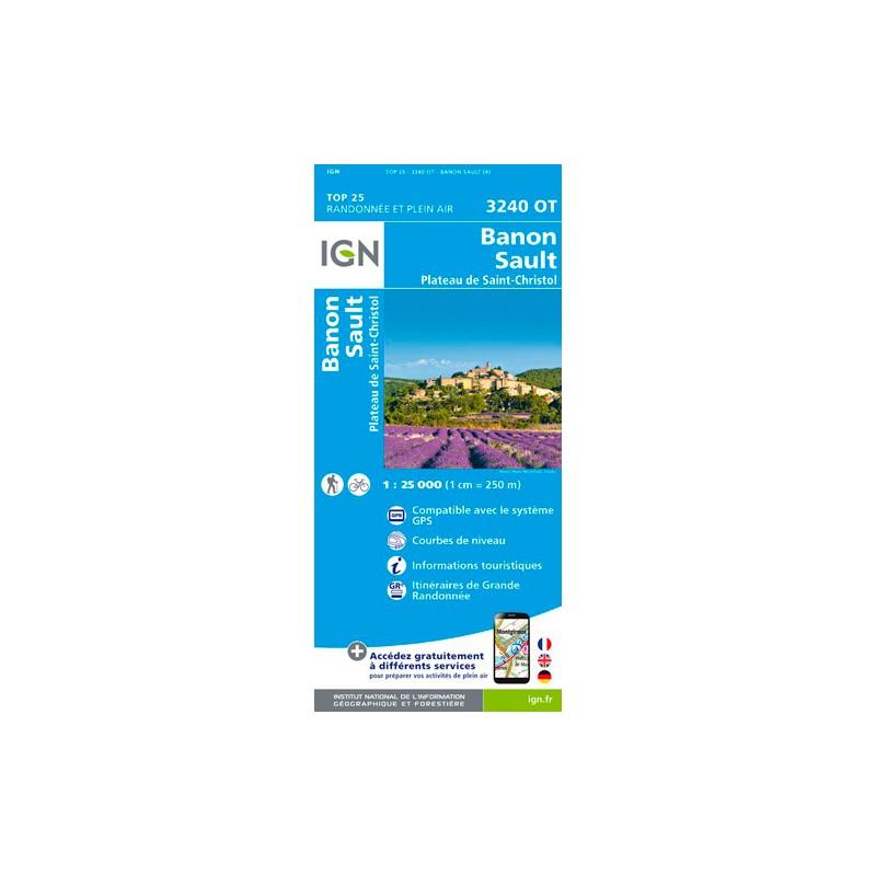 IGN Banon / Sault / Plateau De St-Christol - Carte topographique