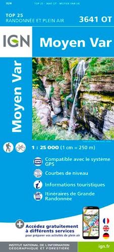 IGN Moyen Var - Carte topographique