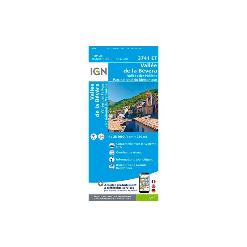 IGN Vallée De La Bévéra Et Des Paillons - Pn Du Mercantour - Carte topographique