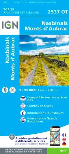 IGN Nasbinals / Monts D'Aubrac - Carte topographique