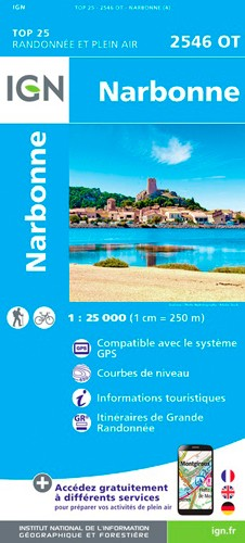 IGN Narbonne - Carte topographique