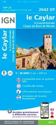 IGN Le Caylar La Couvertoirade.Cirque Du Bout Du Monde - Carte topographique