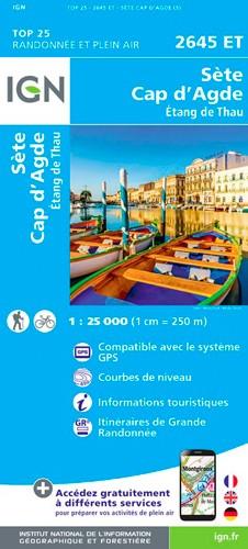 IGN Sète Cap D'Agde.Étang De Thau - Carte topographique