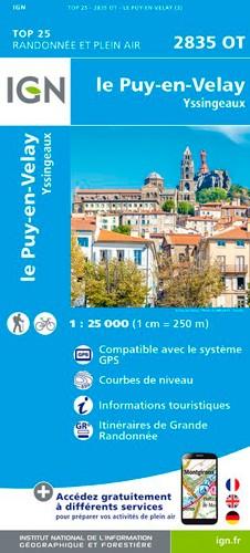 IGN Le Puy-En-Velay.Yssingeaux - Carte topographique