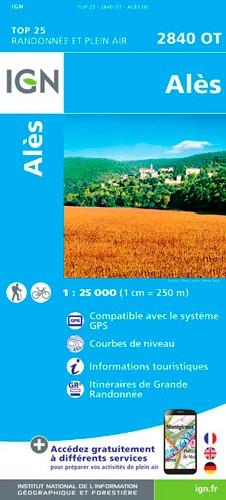 IGN Alès - Carte topographique