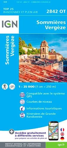 IGN Sommières Vergèze - Carte topographique