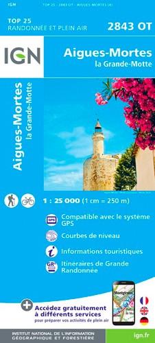 IGN Aigues Mortes.La Grande Motte - Carte topographique