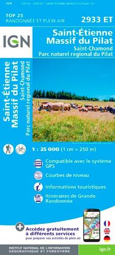 IGN Massif Du Pilat.St-Etienne.St-Chamond.Pnr Du Pilat - Carte topographique