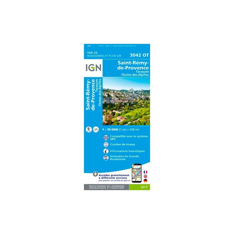 IGN Tarascon. St-Rémy-De-Provence. Chaîne Des Alpilles - Carte topographique