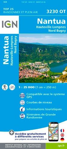 IGN Nantua - Carte topographique