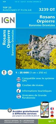 IGN Rosans / Orpierre / Baronnies Orientales - Carte topographique