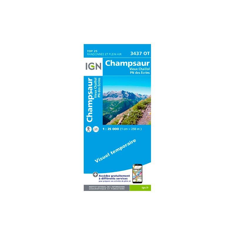 IGN Champsaur.Vieux Chaillol.Pn Des Ecrins - Carte topographique