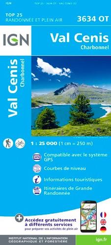IGN Val Cenis.Charbonnel - Carte topographique
