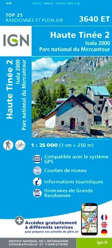 IGN Haute Tinée 2.Isola 2000.Pn Du Mercantour - Carte topographique