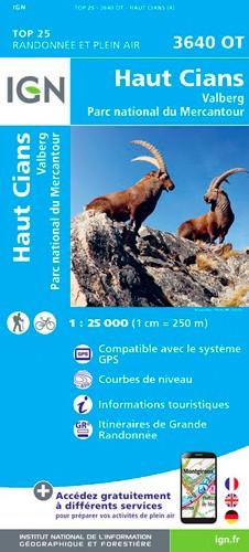 IGN Haut Cians.Valberg.Pn Du Mercantour - Carte topographique