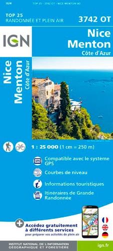 IGN Nice.Menton.Côte-D'Azur - Carte topographique