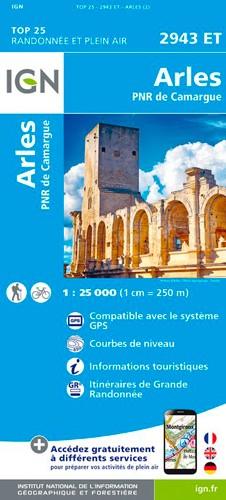 IGN Arles.Pnr De Camargue - Carte topographique