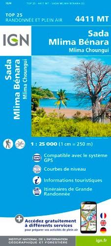 IGN Ile De Mayotte Sada - Carte topographique