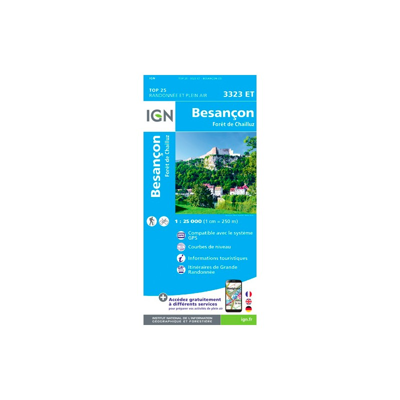 IGN Besançon-Forêt De Chailluz - Carte topographique