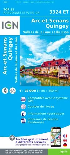 IGN Arc-Et-Senans.Quingey-Vallées De La Loue Et Du Lison - Carte topographique