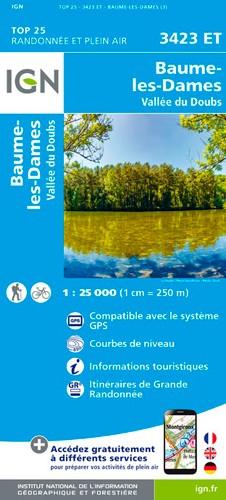 IGN Baume-Les-Dames-Vallée Du Doubs - Carte topographique