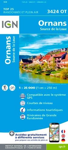 IGN Ornans-Source De La Loue - Carte topographique