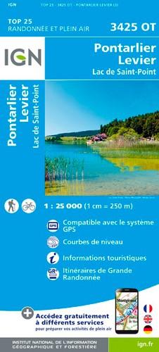 IGN Pontarlier.Levier-Lac De St-Point - Carte topographique