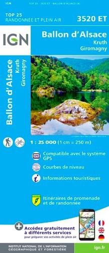 IGN Ballon D'Alsace.Kruth.Giromany - Carte topographique