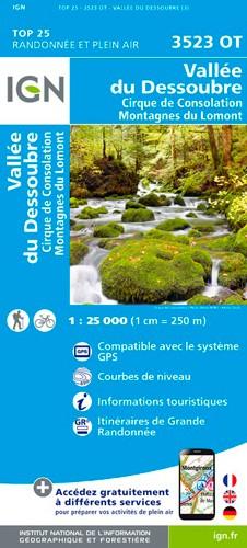 IGN Vallée Du Dessoubre-Cirque De Consolation.Montagnes Du Lomont - Carte topographique