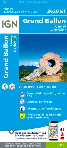 IGN Le Grand Ballon.Cernay.Guebwiller - Carte topographique
