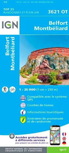 IGN Belfort-Montbéliard - Carte topographique