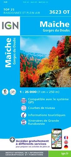 IGN Maîche-Gorges Du Doubs - Carte topographique