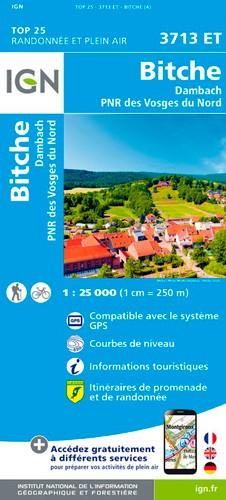 IGN Bitche.Dambach.Pnr Des Vosges Du Nord - Carte topographique