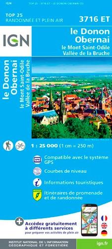 IGN Le Donon.Obernai.Mont-Sainte-Odile.Vallée De La Bruche - Carte topographique