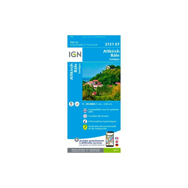 IGN Altkirch.Bâle.Sundgau - Carte topographique