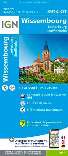 IGN Wissembourg.Lauterbourg-Soufflenheim - Carte topographique