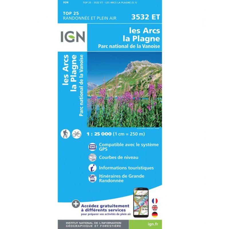 IGN Les Arcs / La Plagne / Pn De La Vanoise - Carte topographique