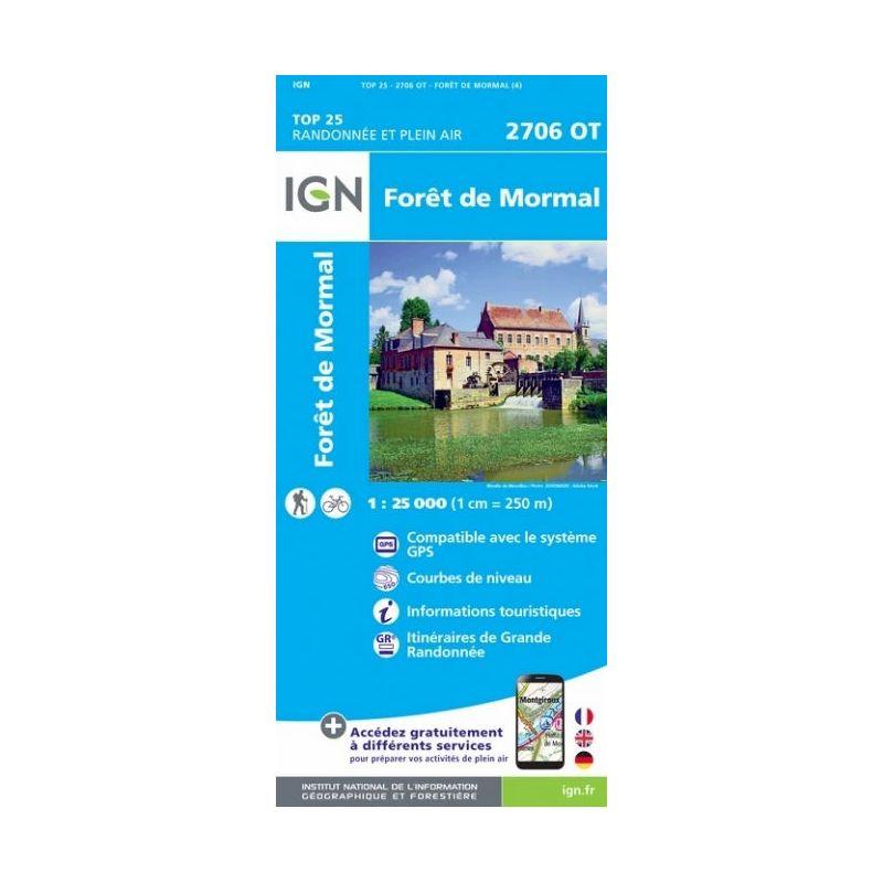 IGN Forêt De Mormal - Carte topographique