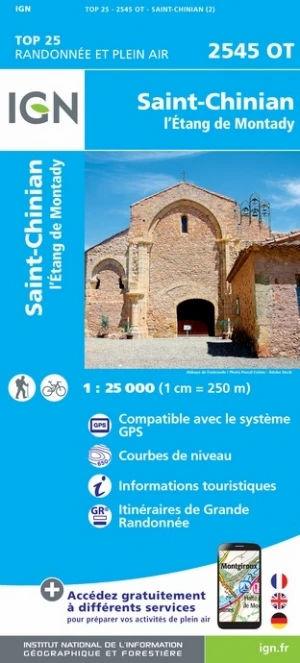 IGN St-Chinian / L'Étang De Montady - Carte topographique