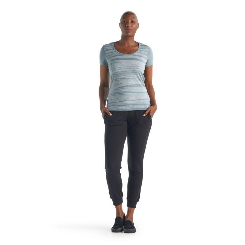 Icebreaker Tech Lite Short Sleeve Scoop 1000 Lines - T-shirt femme